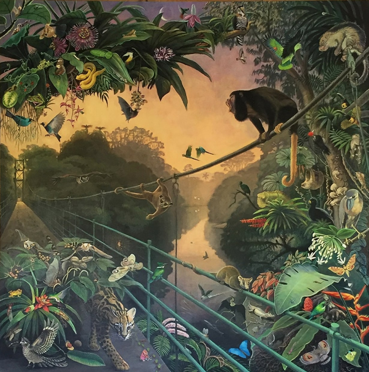 Dawn at La Selva 2018 - Prints and merchandise using this design are available at La Selva